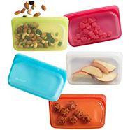 Stasher Reusable Silicone Snack Bag, Assorted