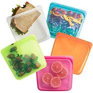 Stasher Reusable Silicone Sandwich Bag, Assorted