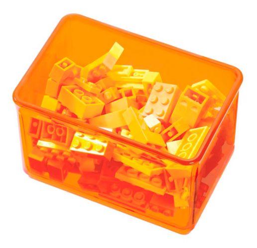 The Home Edit by iDESIGN Small Bin Organizer, Orange