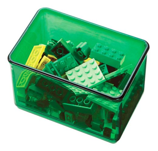 The Home Edit by iDESIGN Small Bin Organizer, Green Product image