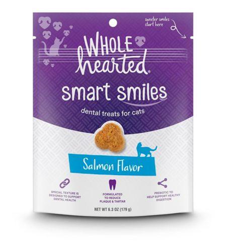 Wholehearted Smart Smiles Cat Dental Treats, Salmon, 6.3-oz