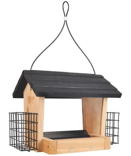 Mangeoire à oiseaux en cèdre Nature's Way, trémie Image de l'article