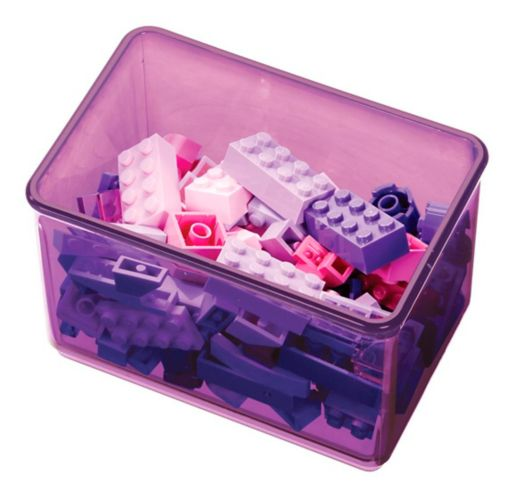 The Home Edit by iDESIGN Small Bin Organizer, Violet Product image