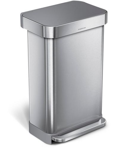 simplehuman Rectangle Step Trash Can, 45-L