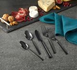 Belvedere Polished Finish Flatware Set, Black | Padernonull
