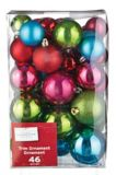 CANVAS Brights Ball Ornament Set, Assorted, 46-pk | FOR LIVING | Canadian Tire