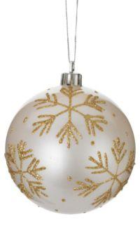 Canvas Gold Polka Dot Glitter Ball Ornament 80 Mm Canadian Tire