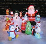 GEMMY Inflatable Santa, 14-ft   Gemmynull