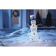 CANVAS LED Whimsical Snowman, 4-ft