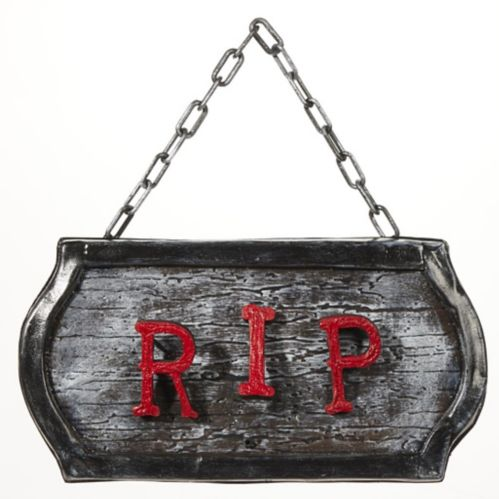 FOR LIVING Battery-Operated Animated R.I.P. Sign