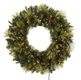 NOMA Flocked Pre-Lit Wreath, 30-in | NOMAnull