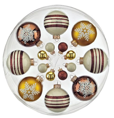 Christmas Tree Store Erie Pa: CANVAS Gold Mixed Round Ornaments, Assorted, 16-pk