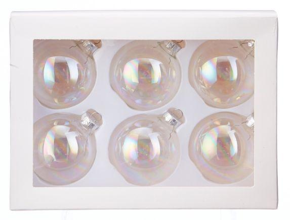 Boule en verre à décorer CANVAS, 60 mm, paq. 6