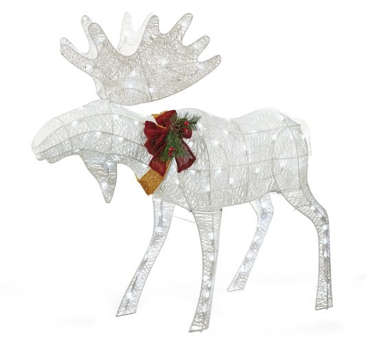 Christmas Tree Store Erie Pa: NOMA Pre-Lit Crystal Splendor Moose Wireform, 4-ft