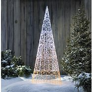 CANVAS LED Micro-Brite Twinkling Cone Tree, 6-ft