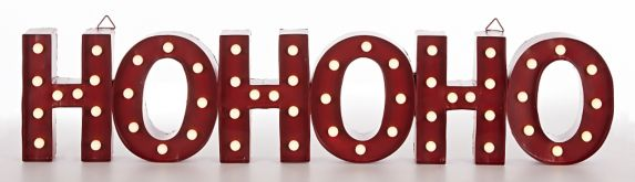 CANVAS Lit HO HO HO Marquee Sign, Assorted, 35.7-in Product image