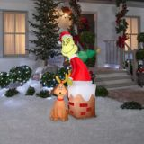GEMMY Inflatable Grinch in Chimney, 5.5-ft | Grinchnull