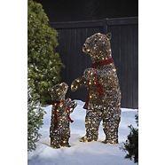 CANVAS Whimsical Mama and Baby Bears, 2-pk