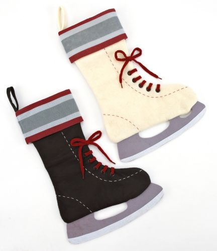 Holiday Skating Boot Stocking, 20-in Assorted