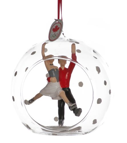 Collectible Canadian Olympic Team Figure Skating Ornament