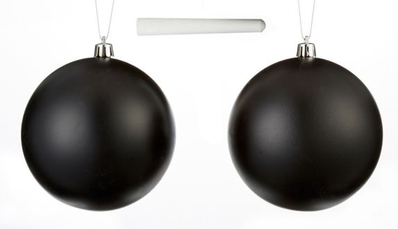 CANVAS Brights Chalk Ball Ornaments, 2-pk Product image