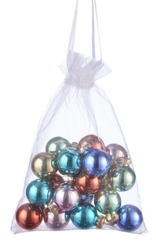 CANVAS Brights Collection Glass Ball Ornaments In Pouch, Assorted, 15-pk