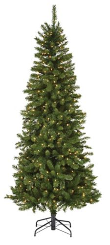NOMA Carlton Pre-Lit Slim Christmas Tree, 7-ft Product image