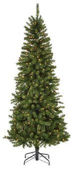 Slim Christmas Tree.Noma Carlton Pre Lit Slim Christmas Tree 7 Ft