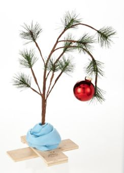 Charlie Brown Christmas Tree Image.Charlie Brown Christmas Tree With Blanket 24 In Canadian Tire