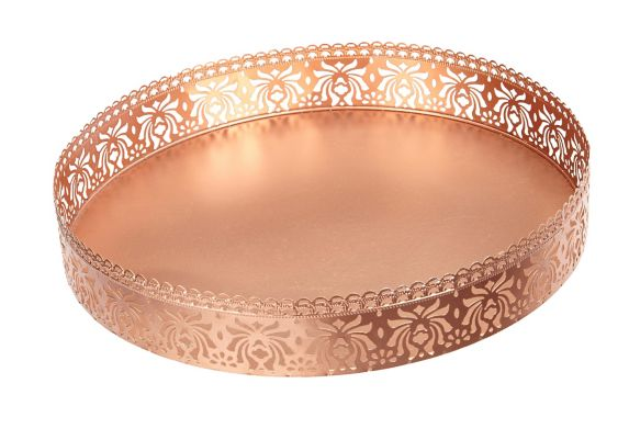 CANVAS Rose Gold Tray, 24-in