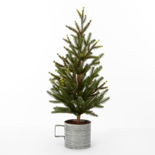 CANVAS Galvanized Potted Tree Mug, 24-in