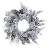 CANVAS Flocked Mixed Greenery Wreath, 24-in | CANVAS | Canadian Tire