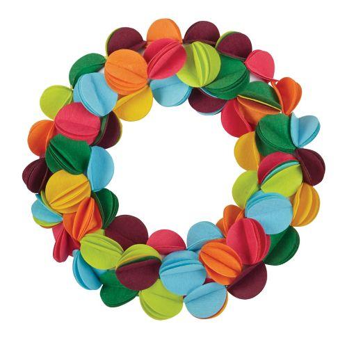 Couronne en feutre CANVAS, 22 po, couleurs vives