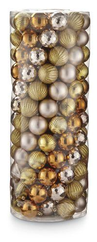CANVAS Gold Mixed Metallic Ornament Set, 60-mm, 150-pk