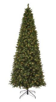 Pre Lit Slim Christmas Tree 9 Ft