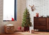 CANVAS Powered by NOMA Pre-Lit Norris Potted Fraser Fir Tree, 5-ft | CANVAS