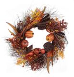 CANVAS Harvest Pumpkins & Gourds Wreath with Berry Accent, 24-in | CANVAS | Canadian Tire