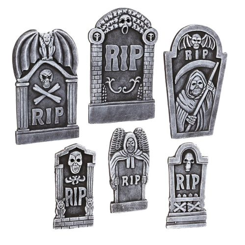 RIP Tombstone Set, 6-pc