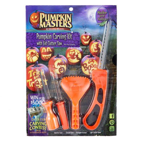 Nécessaire de sculpture Pumpkin Masters avec scie coupe-couvercle Image de l'article