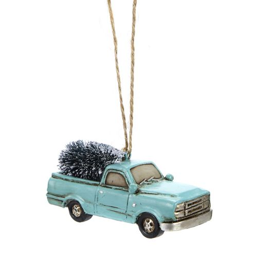 CANVAS Red Collection Resin Car with Tree Ornament, Assorted
