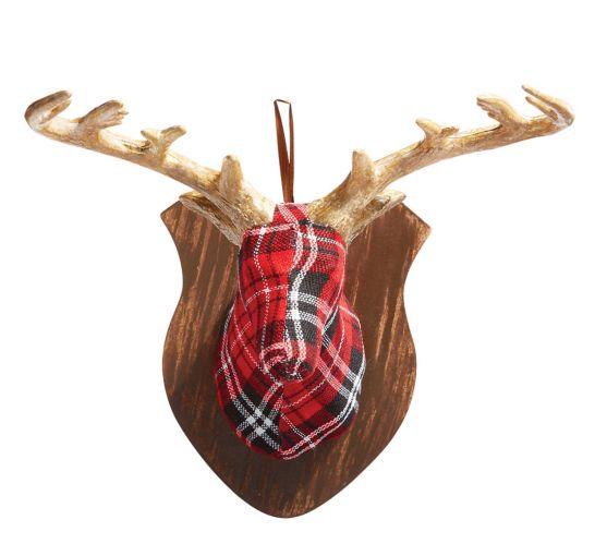 Christmas Tree Store Erie Pa: CANVAS Buffalo Check Deer Head
