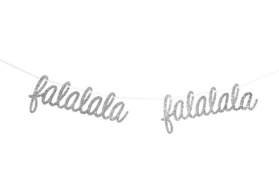 CANVAS Silver Collection FALALA Script Garland, 6-ft Product image