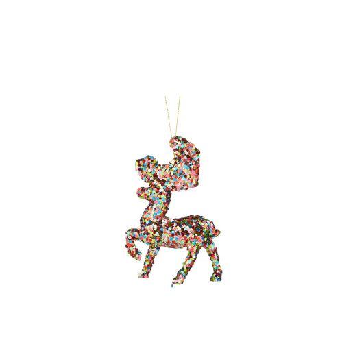 CANVAS Brights Sequin Deer Ornament, Assorted
