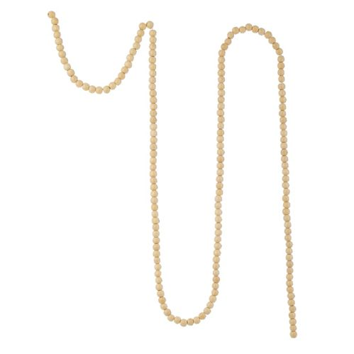 CANVAS White Collection Wood Bead Garland, 8-ft