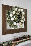 CANVAS Pre-Lit Lifelike Frosted Fir Wreath, 24-in   CANVASnull