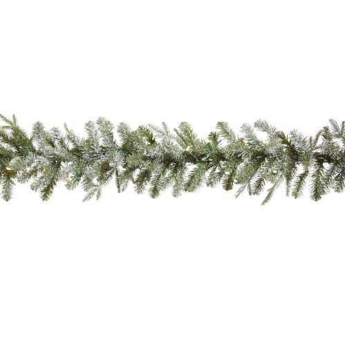 CANVAS Pre-Lit Lifelike Frosted Fir Garland, 9-ft Product image
