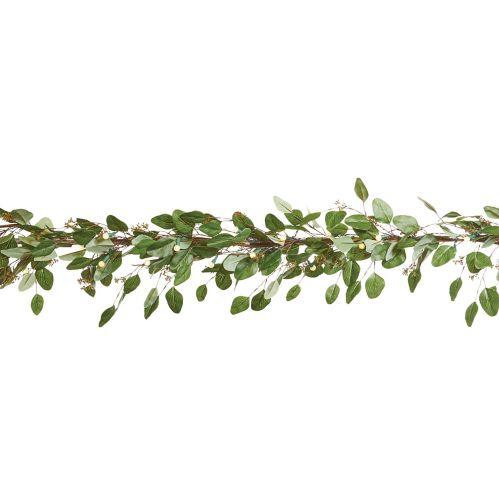 CANVAS Pre-Lit Eucalyptus Leaves Garland, 9-ft