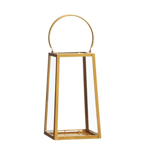 CANVAS Gold Brushed Lantern, 13.5-in Product image
