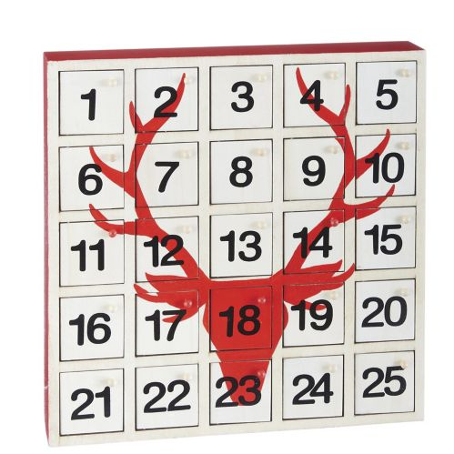 For Living Wooden Advent Calendar, Assorted, 13-in