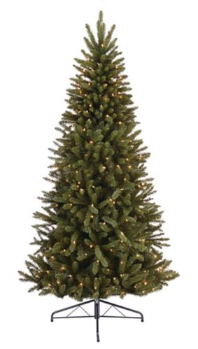 NOMA Pre-Lit Incandescent Half Green Christmas Tree, 7-ft Product image
